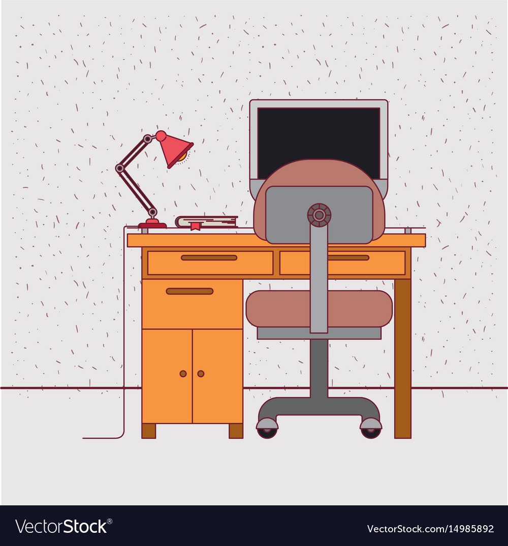 Color background with sparkles and work place home