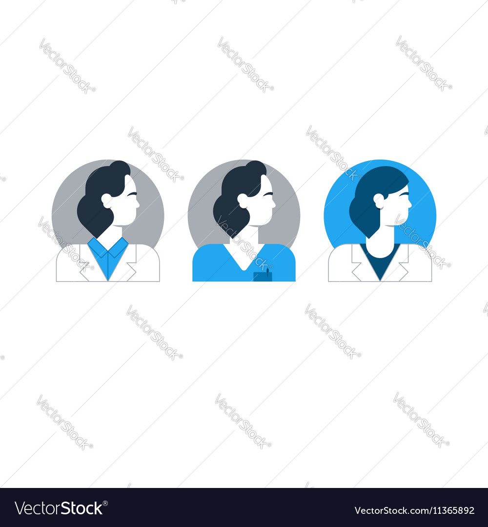Doctor side view man turned head medical worker