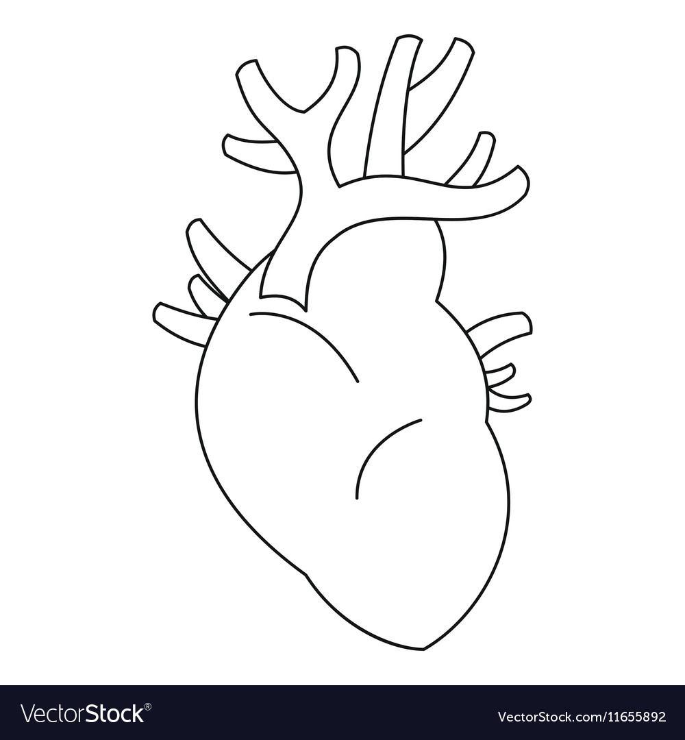 Heart icon outline style