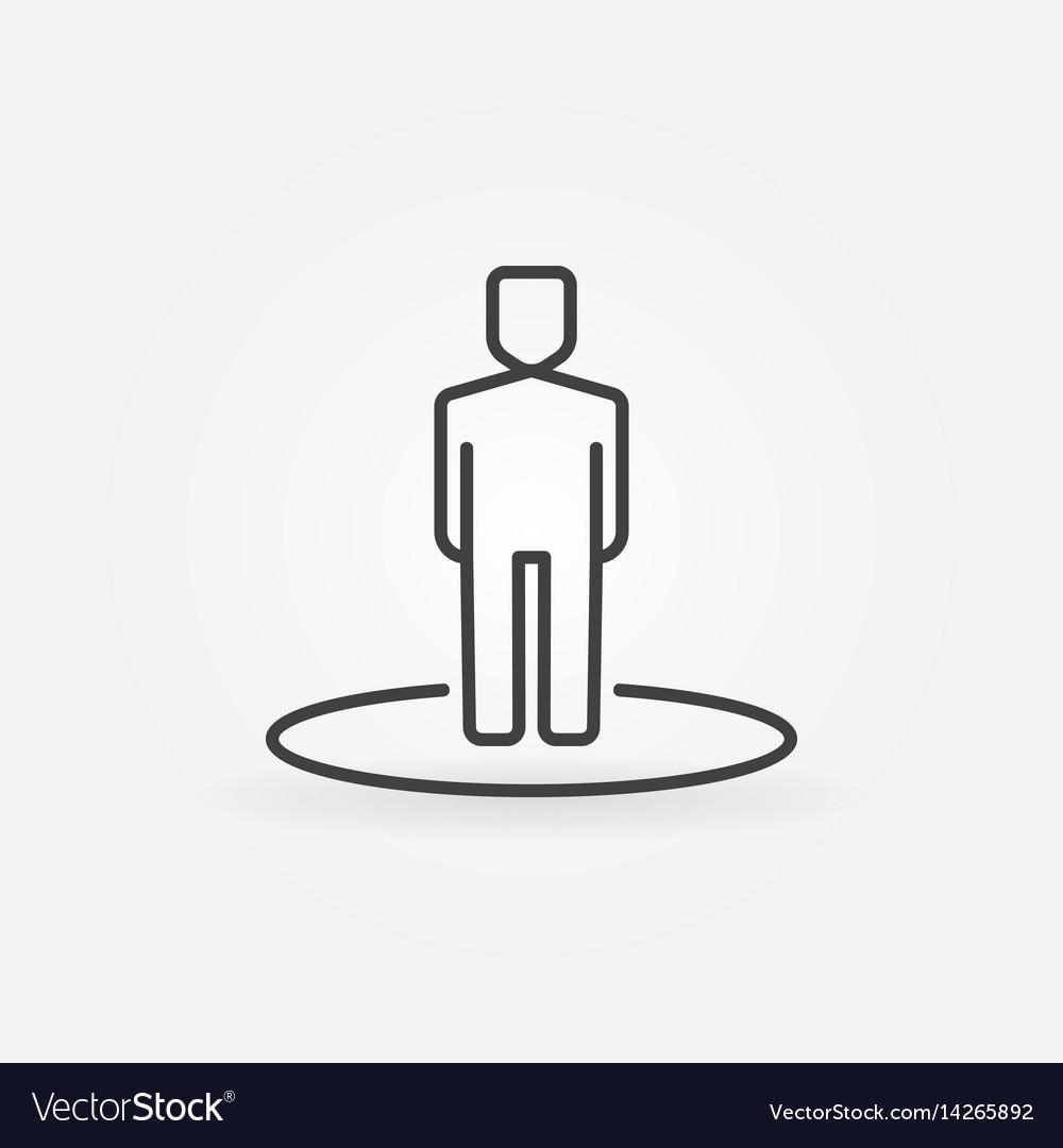 Man line icon vector image