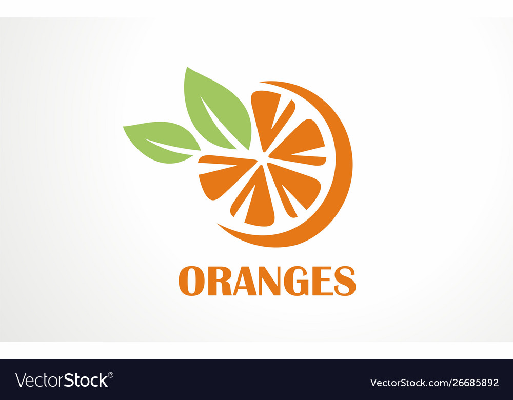 Orange logo fresh juice drink citrus