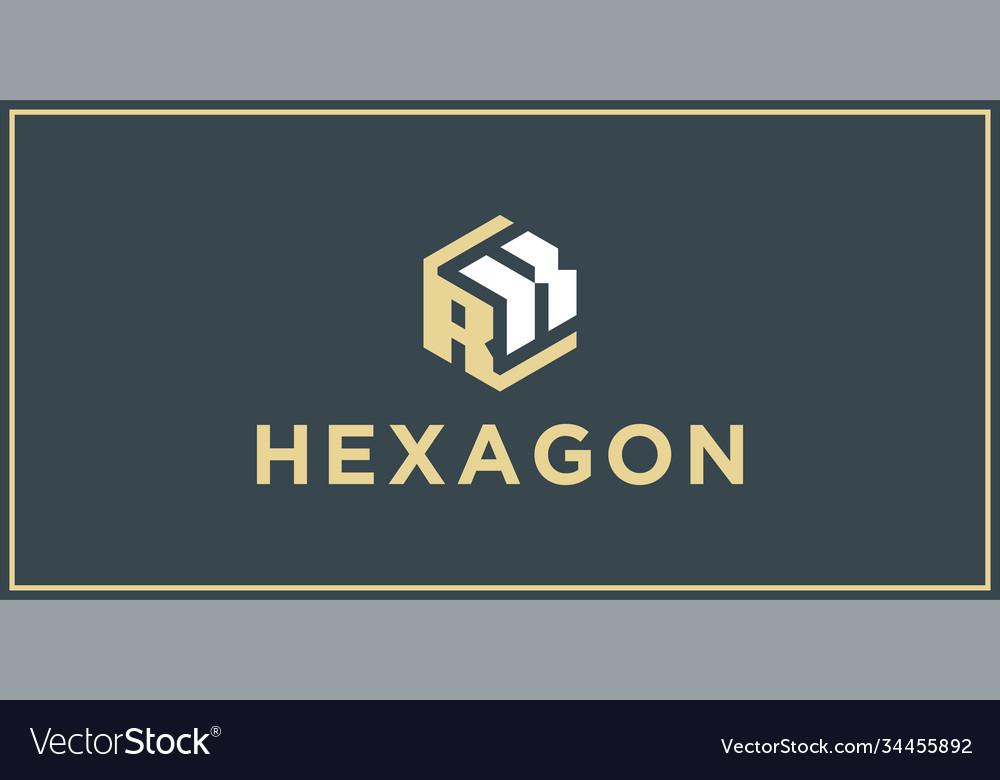 Rk hexagon logo design inspiration