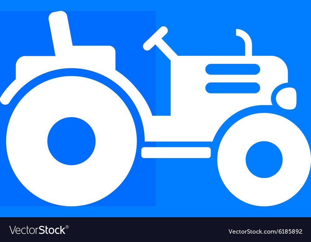 Tractor icon button logo symbol concept