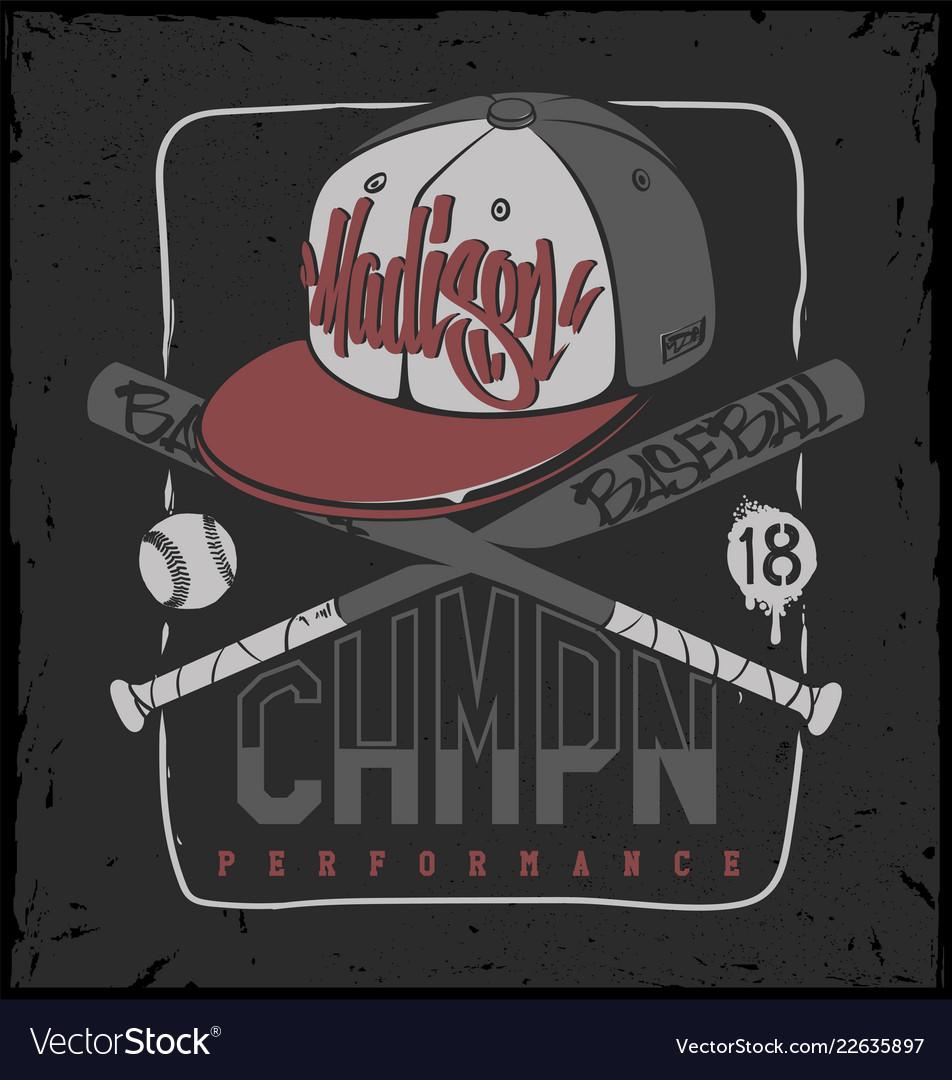 Baseball club print for sportswear