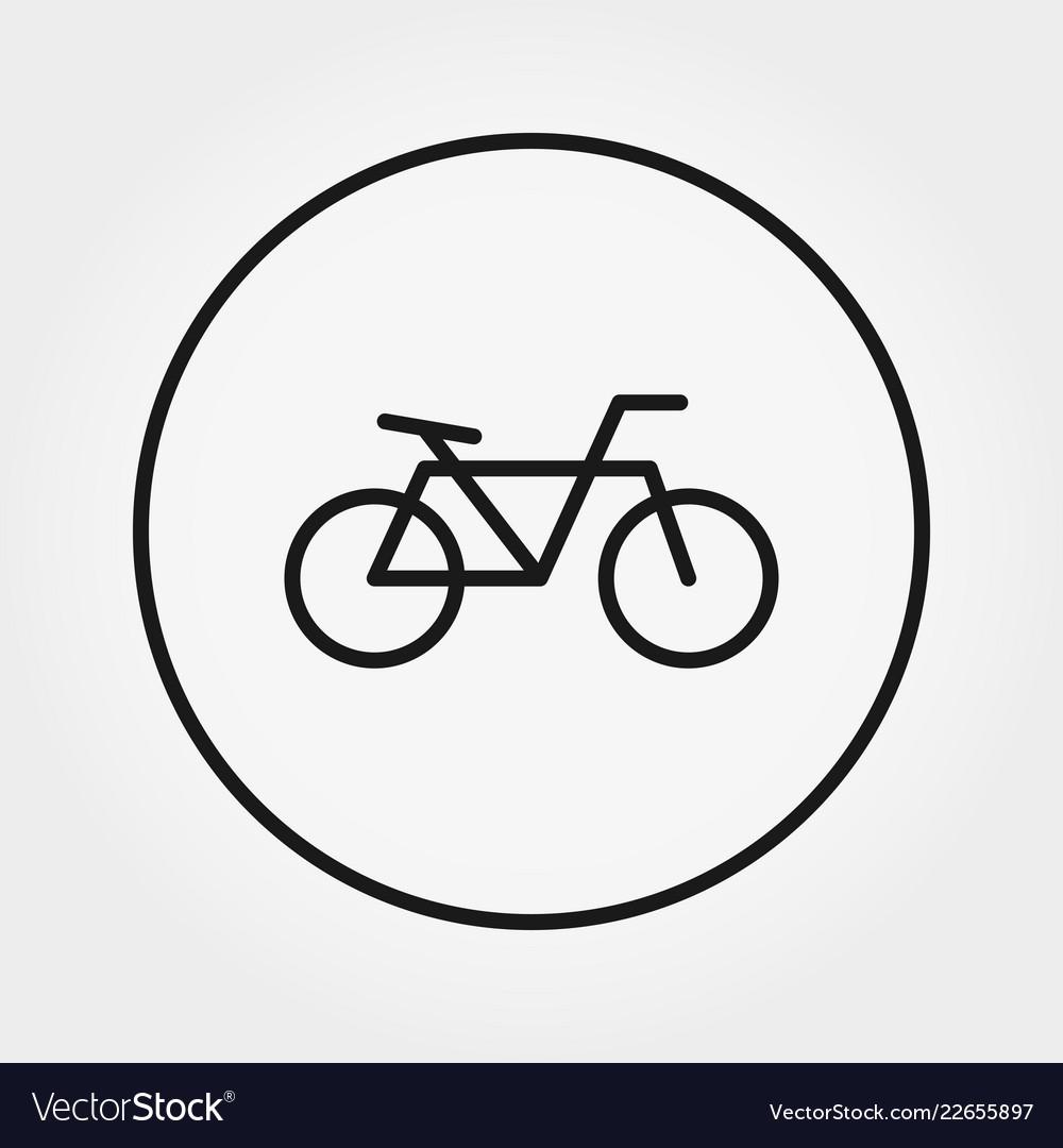 Bicycle universal icon editable thin