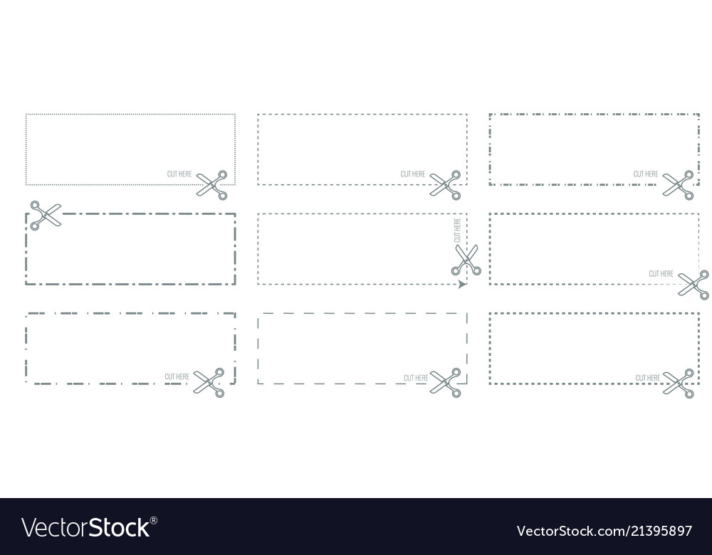 coupon template with cut out dashed or royalty free vector