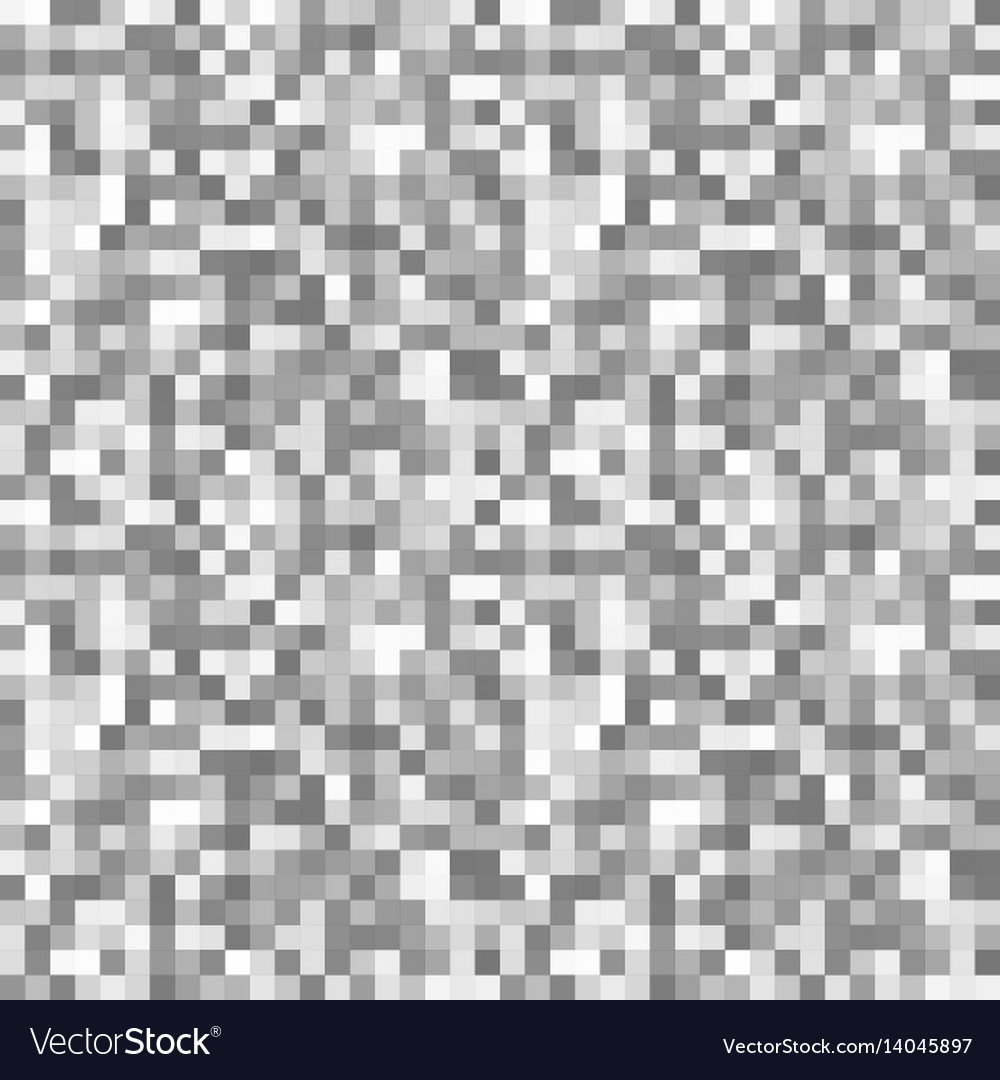 Grayscale pixels noise mosaic seamless pattern vector image