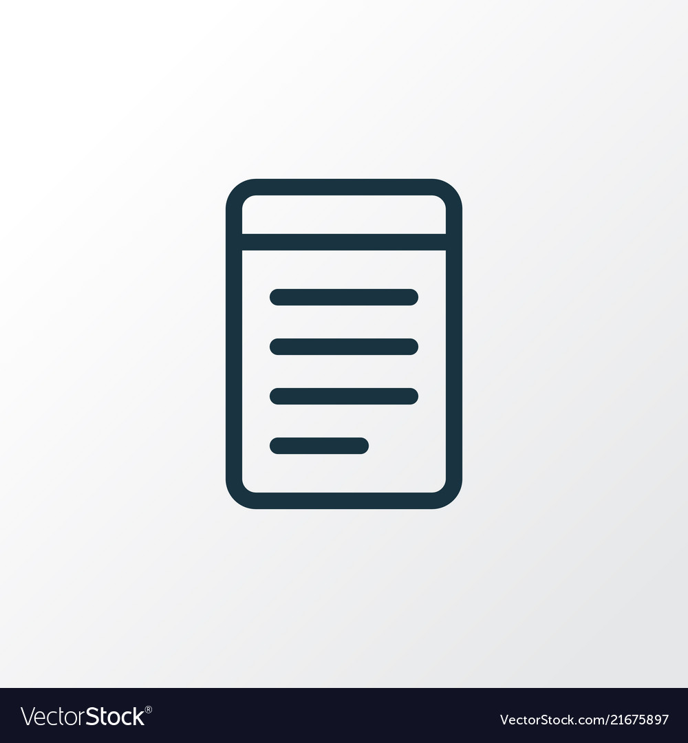Notepad icon line symbol premium quality isolated
