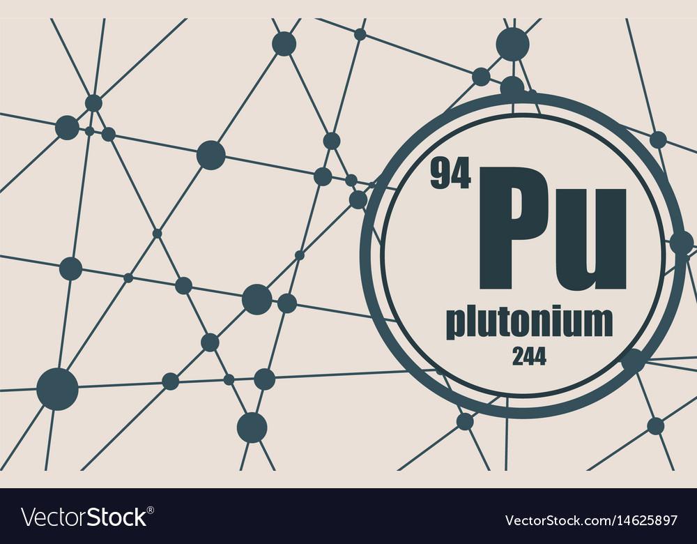Plutonium Chemical Element Royalty Free Vector Image