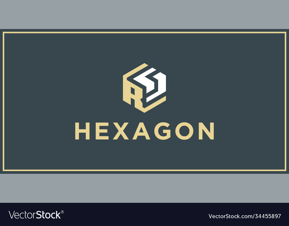 Rs hexagon logo design inspiration vector