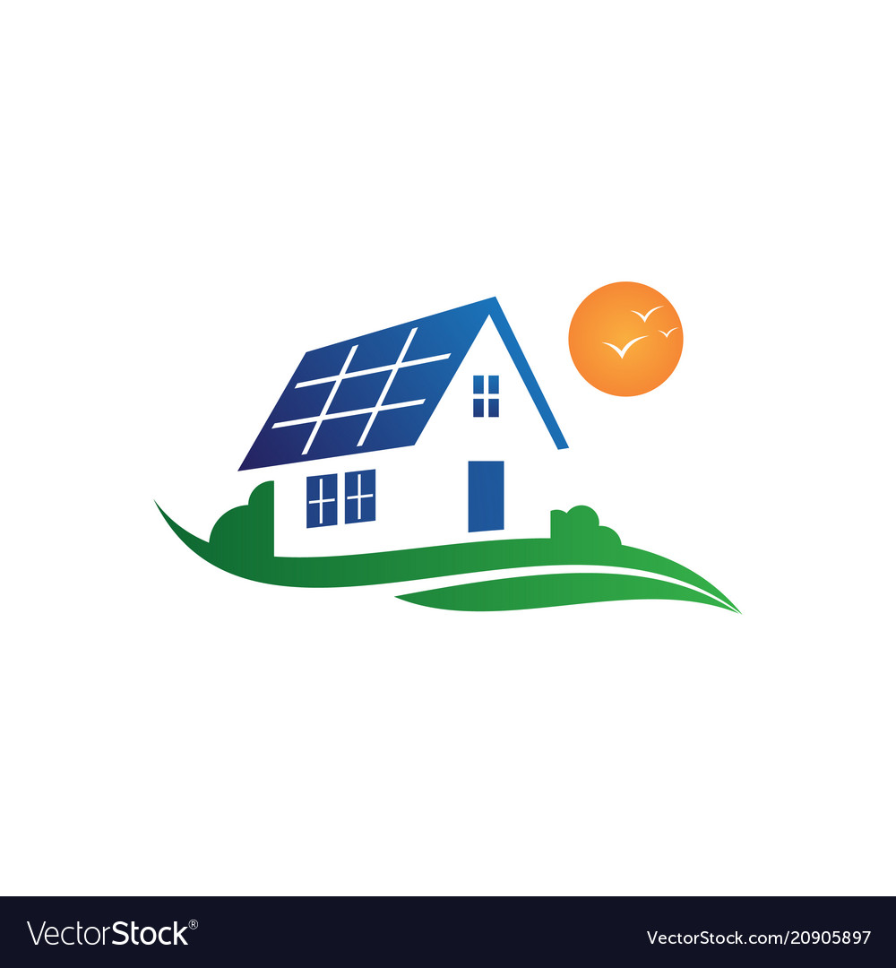 Solar house graphic