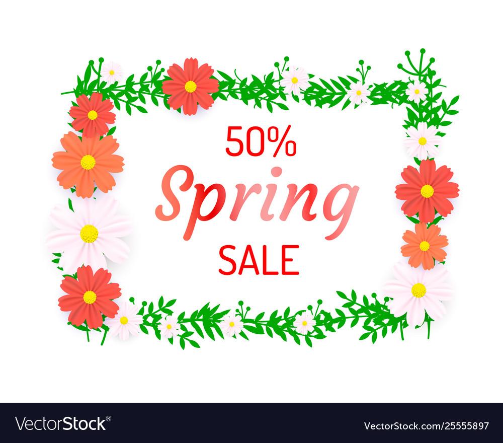 Spring poster 50 percent off sale frame