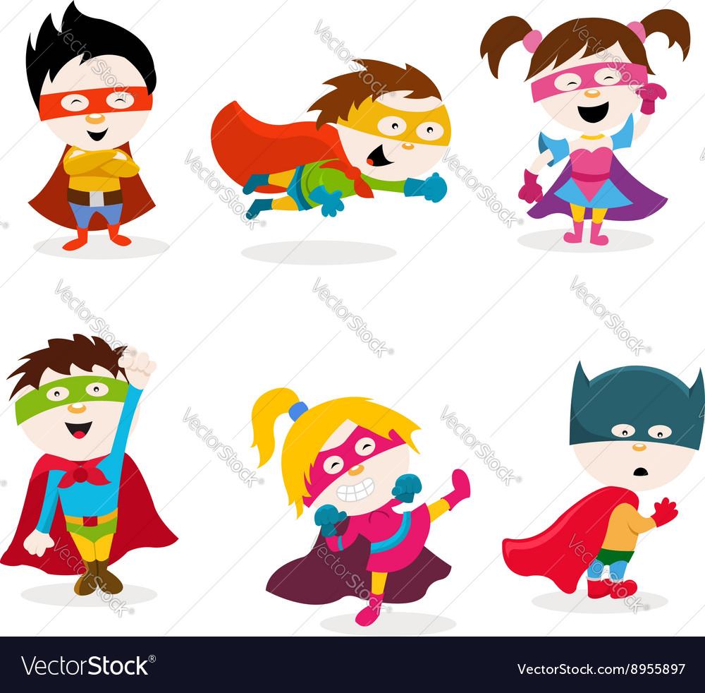 Super Kids Royalty Free Vector Image - VectorStock