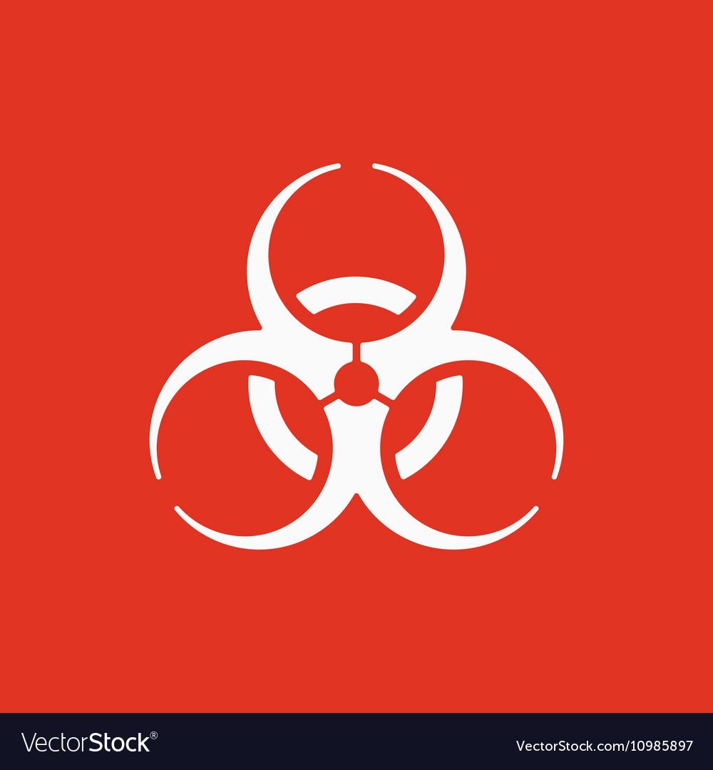 The Biohazard Icon Biohazard Symbol Flat Vector Image