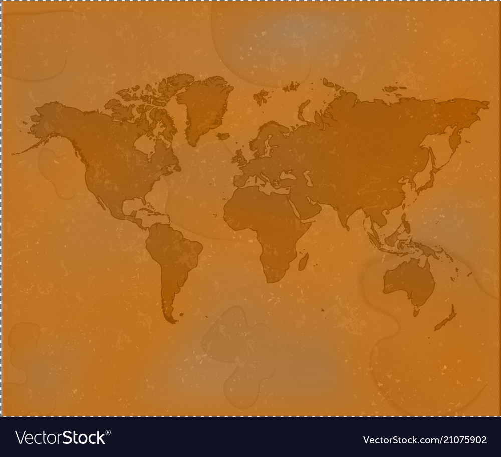 Brown world map grunge old map background textur vector image gumiabroncs Choice Image