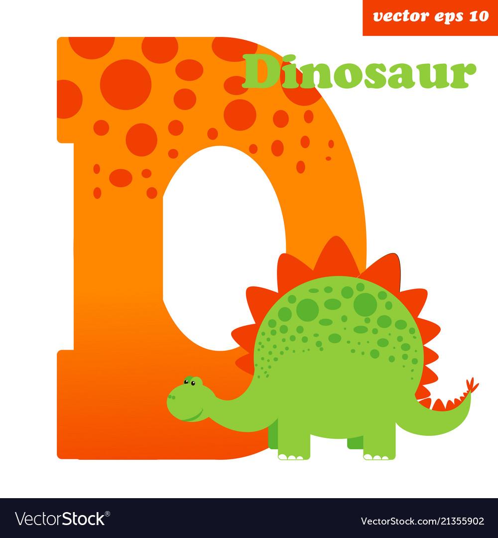 D with dinosaur
