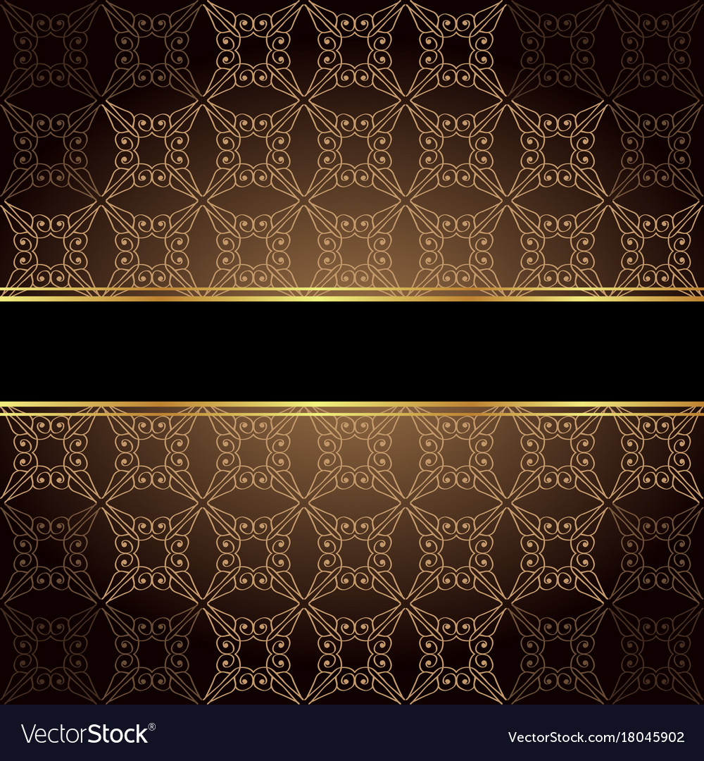 elegant wallpaper with golden fine decoration and vector 18045902