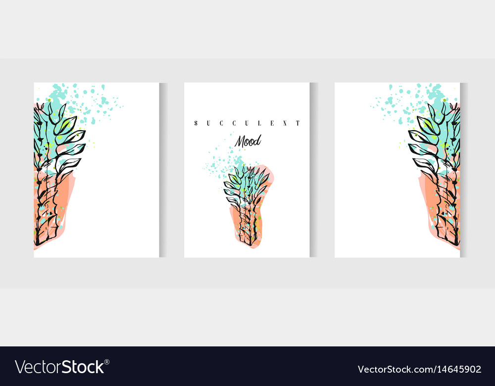 Hand drawn abstract save the date greeting vector image