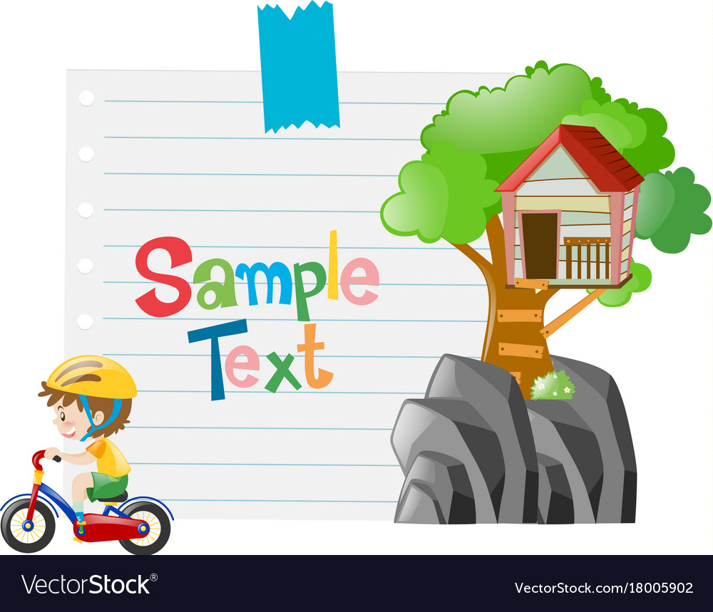 Paper design with boy riding bike