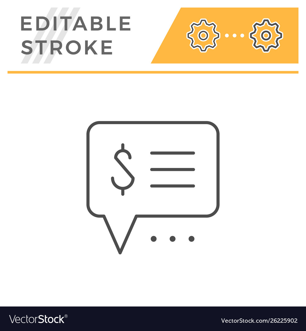 Payment info editable stroke line icon