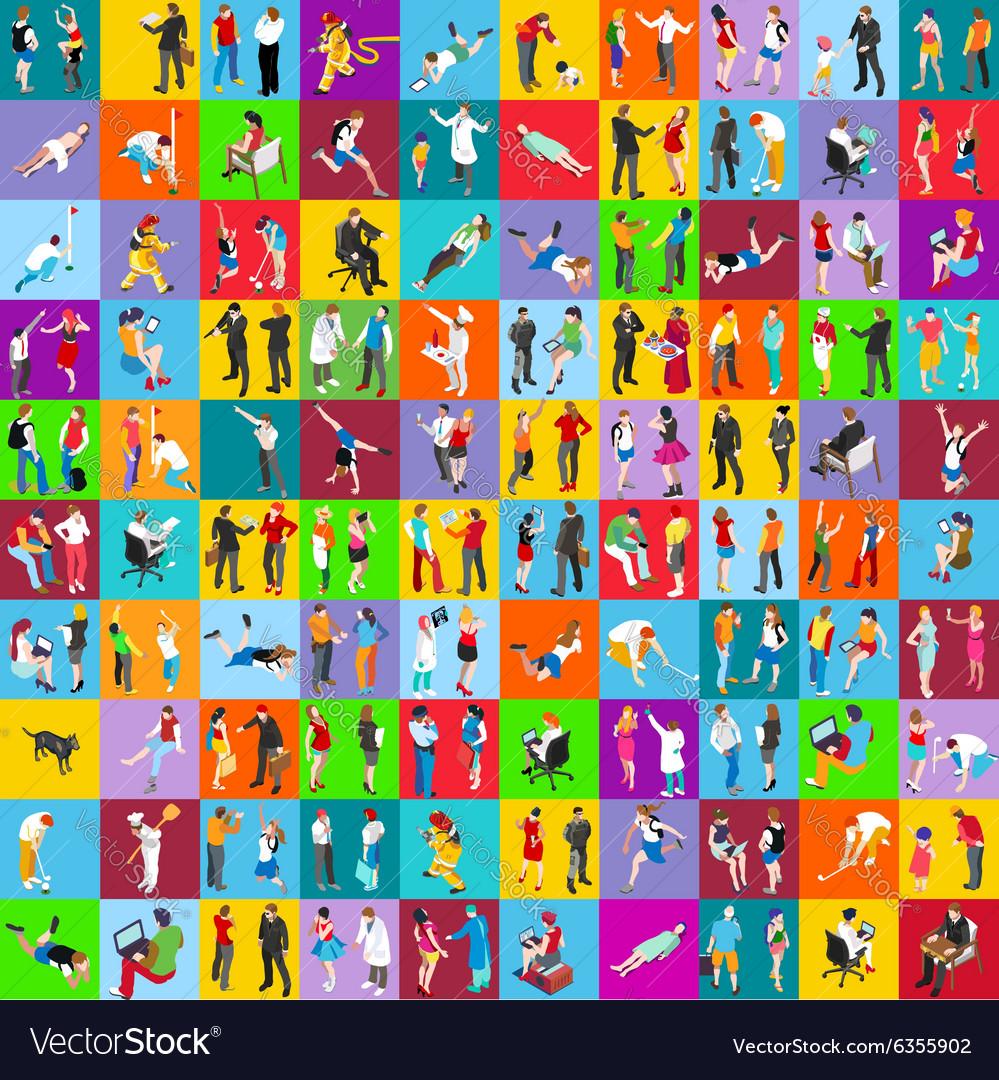 People 01 MEGA Set Isometric