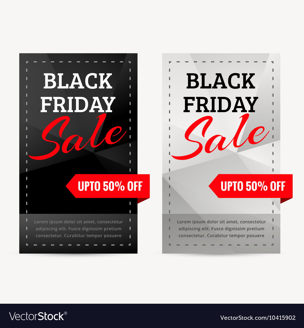 Set of black friday sale banners