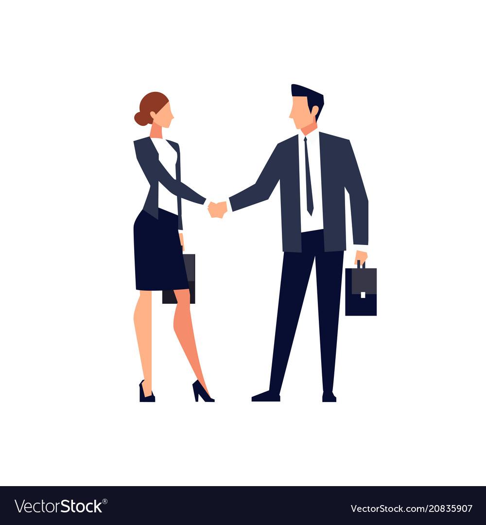 Businessmen shake hands isolated