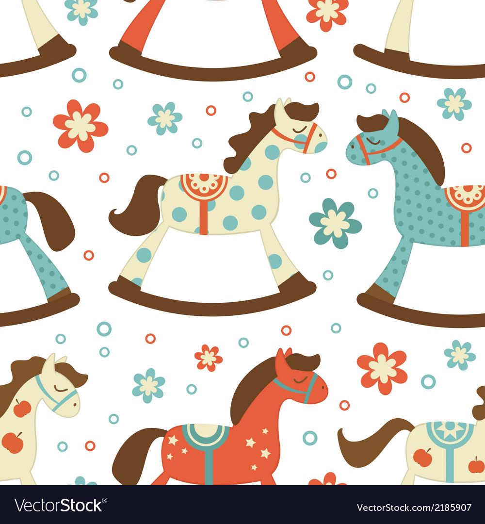 Cute rocking horses background