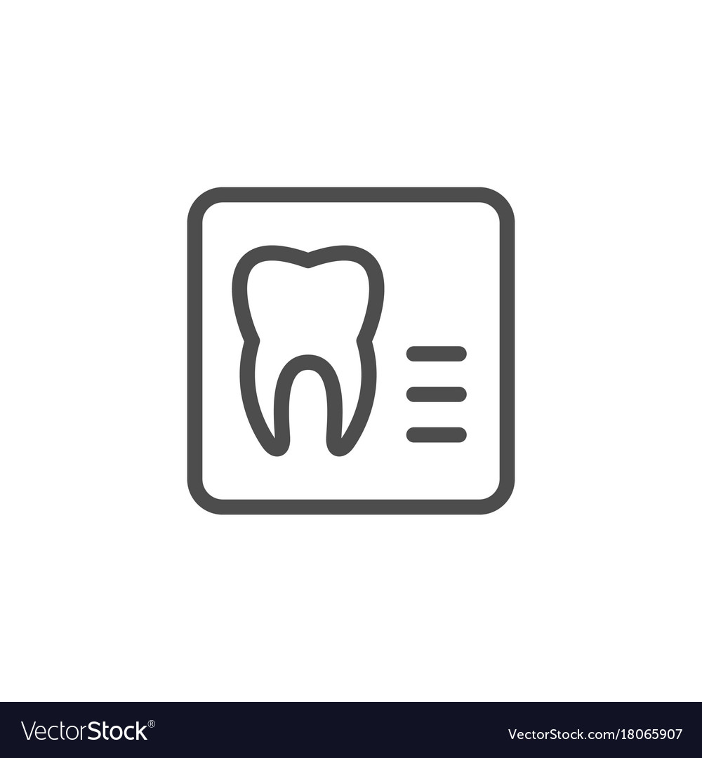 Dental x-ray line icon
