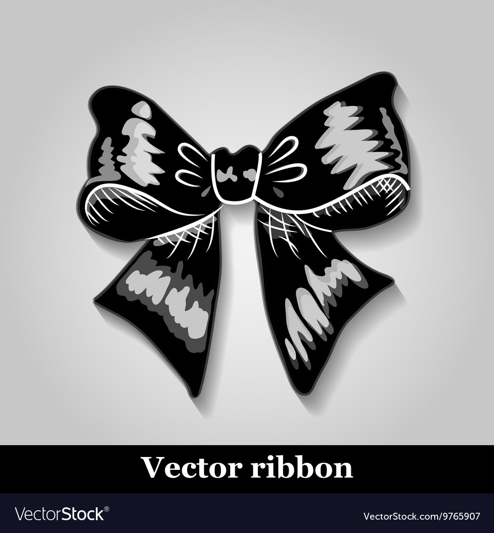 Gift bows with ribbons black color