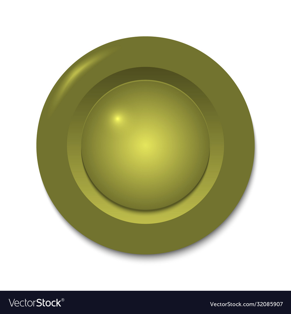 Gold circle button template for your design