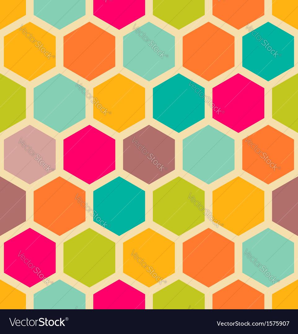 Hexagon pattern vector image