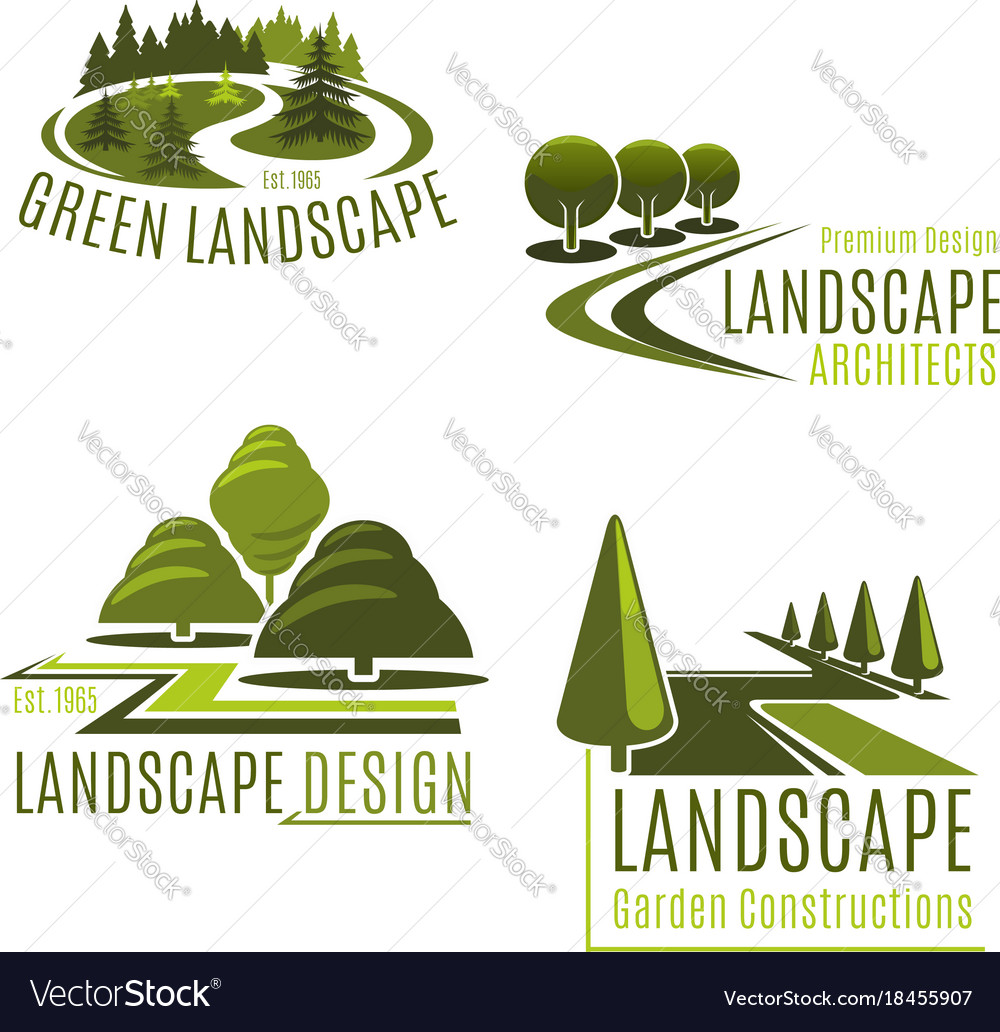 Icons for nature landscaping company