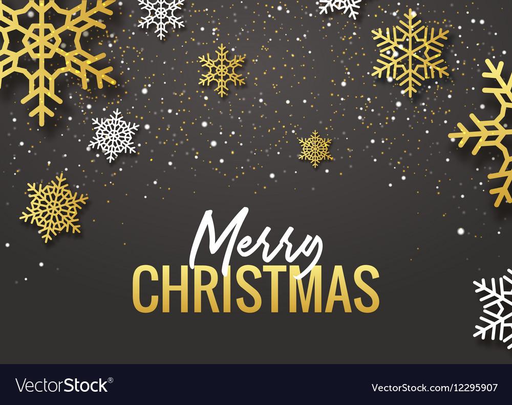Merry Christmas poster design Retro gold