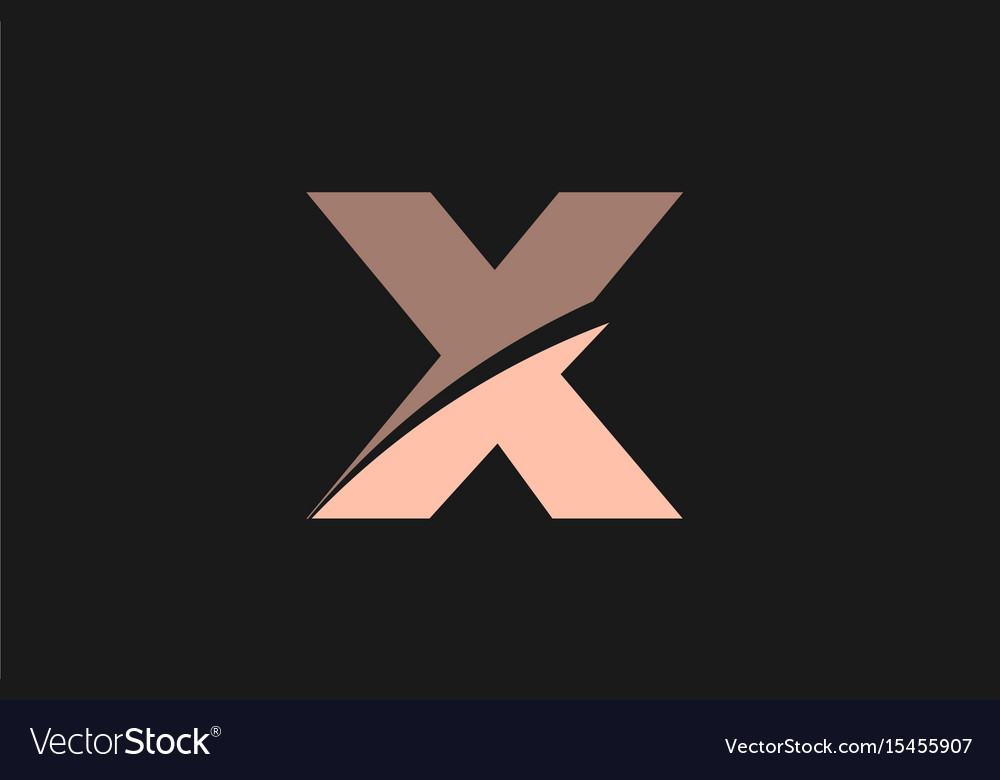 Pink alphabet letter x logo icon template company