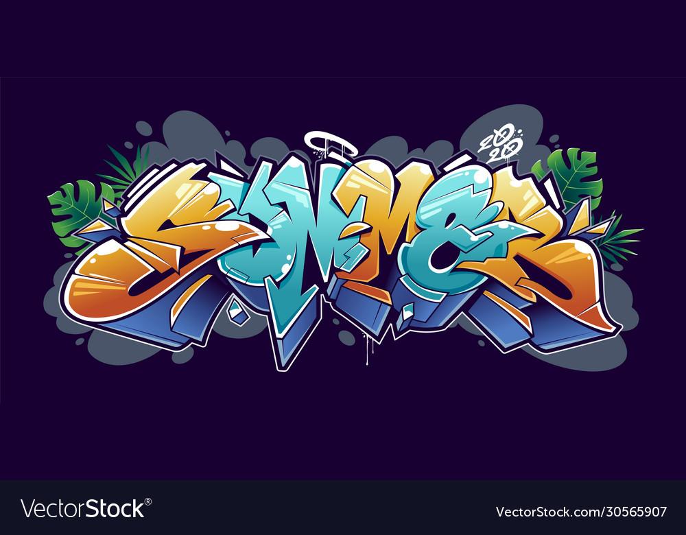 Summer graffiti lettering