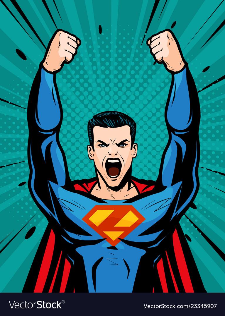 Poster SUPERMAN SUPER HERO POP ART COMICS Art