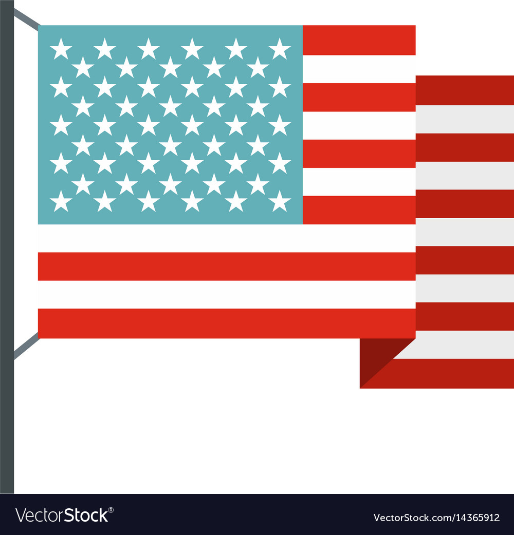 American flag icon isolated