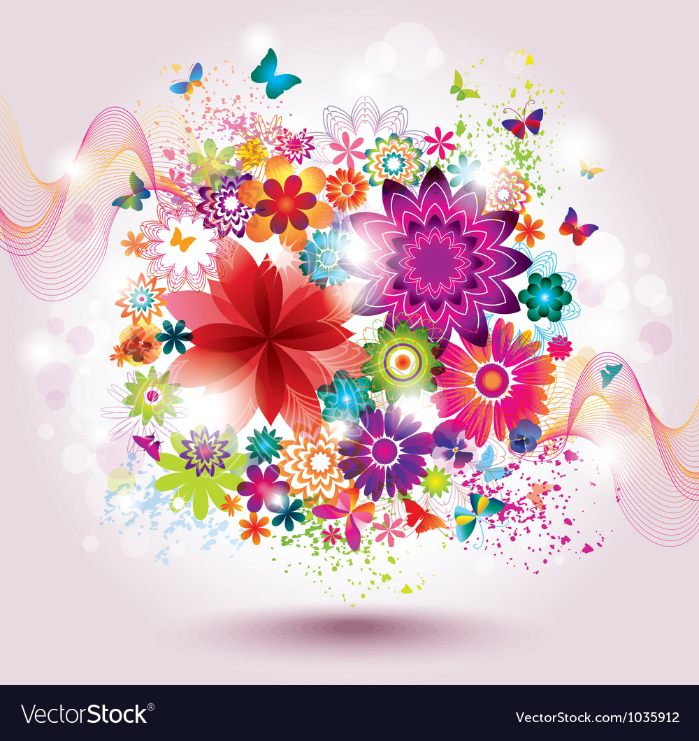 Beautiful flower background vector image