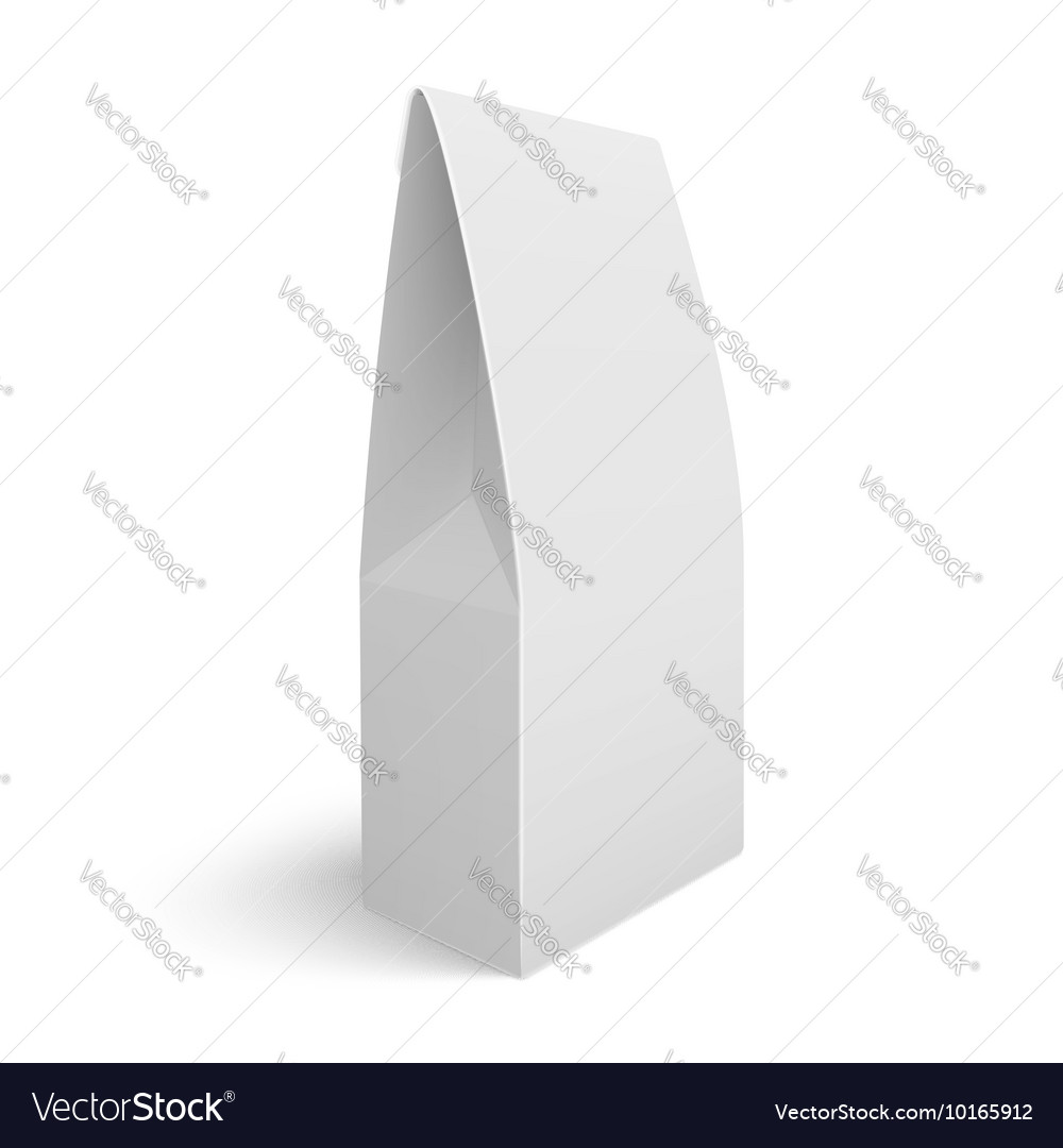 Blank paper bag template vector image