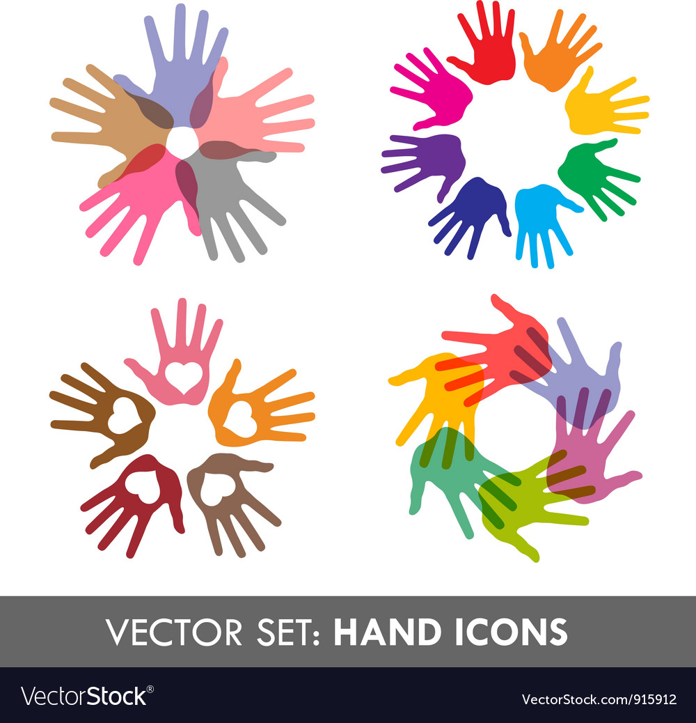 Collection of hand icons