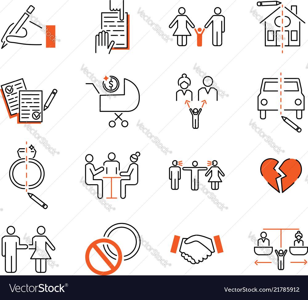 Divorce mediation outline icon