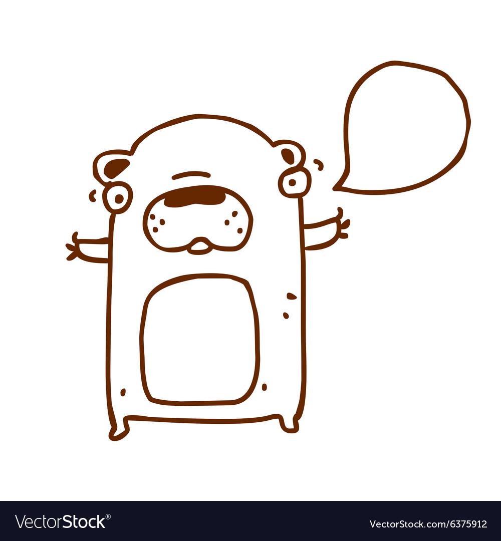 Hand Drawn Talking Bear