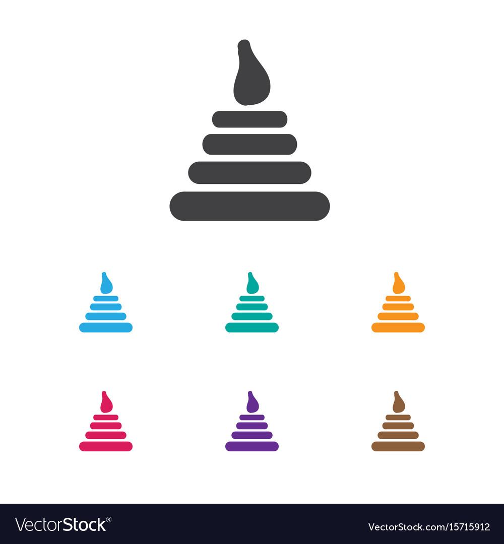 Of infant symbol on pyramid
