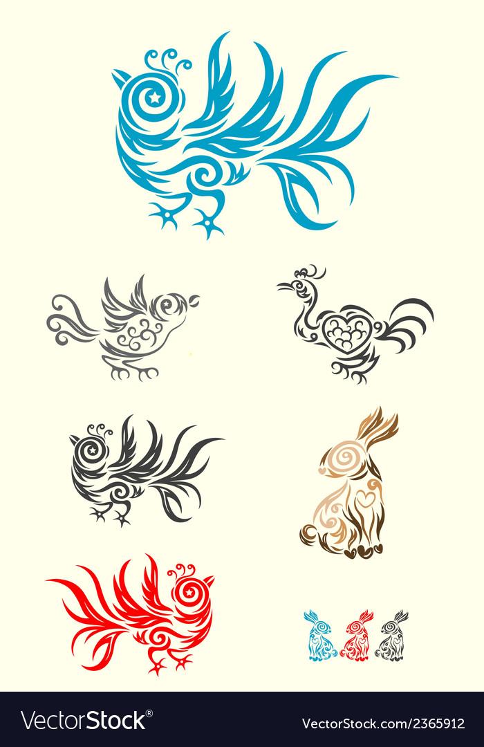 Rabbit and bird