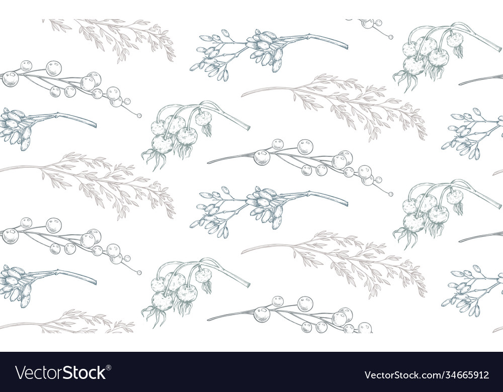 Seamless pattern with christmas floral