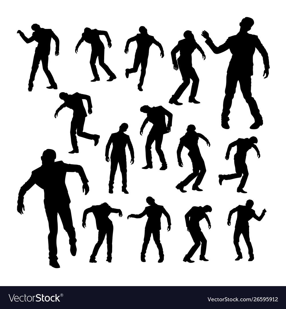 Silhouettes dancing man