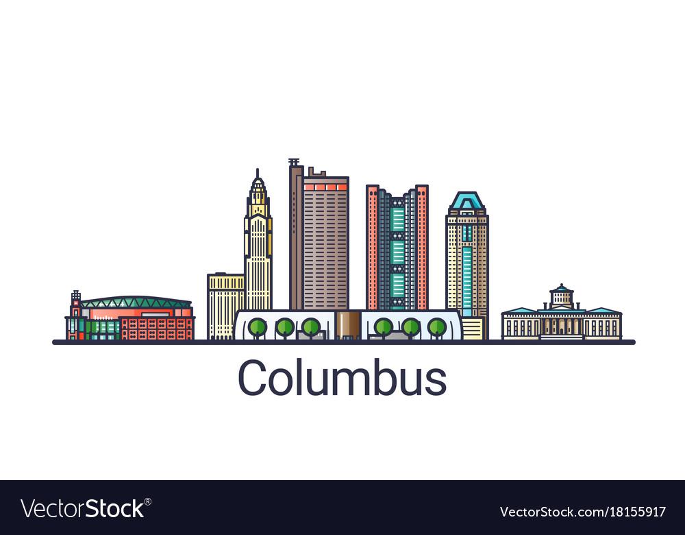 Flat line columbus banner