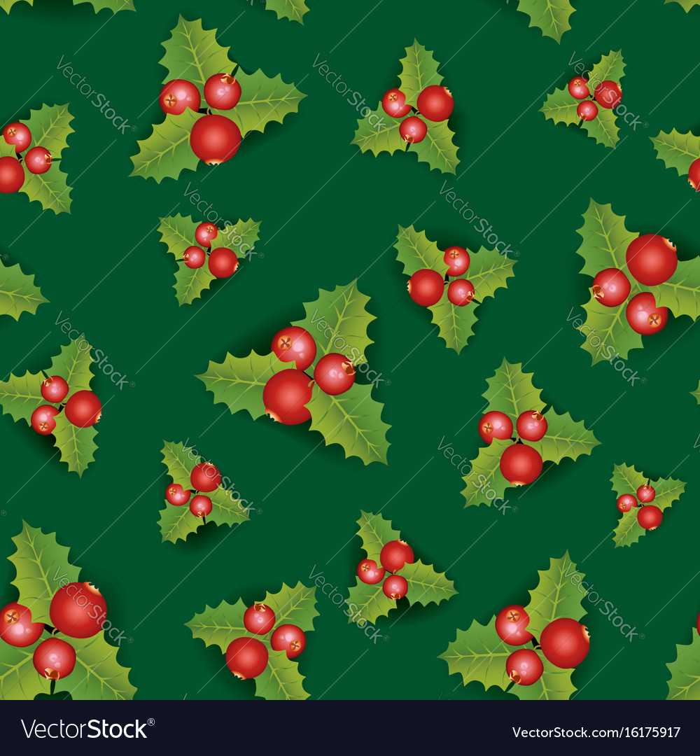 Floral seamless background christmas pattern with