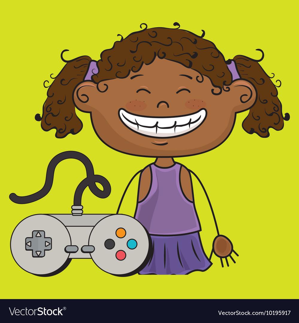 Girl game control icon